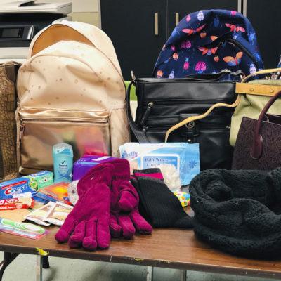 Bags for homeless women